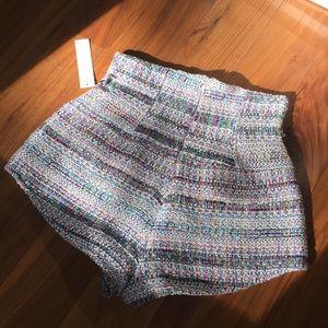 Eggie Shorts - High waisted tweed funfetti shorts